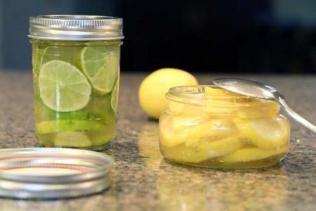 смесь лимона имбиря и меда